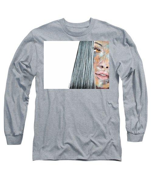 Amber Rose - Woman Abstract Art Long Sleeve T-Shirt
