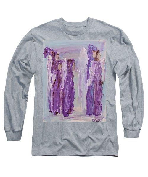 Angels In Purple Long Sleeve T-Shirt