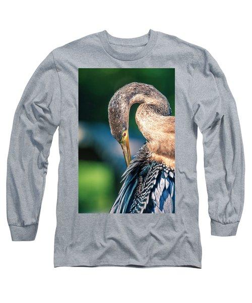 Anhinga Grooming Long Sleeve T-Shirt