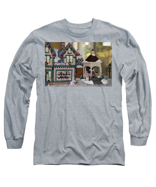 Antiques In Christmas Town Long Sleeve T-Shirt