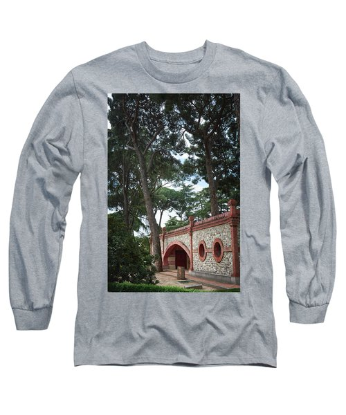 Architecture At The Gardens Of Cecilio Rodriguez In Retiro Park - Madrid, Spain Long Sleeve T-Shirt