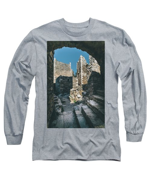 Architecture Of Old Vathia Settlement Long Sleeve T-Shirt