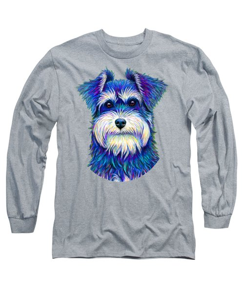 Colorful Miniature Schnauzer Dog Long Sleeve T-Shirt
