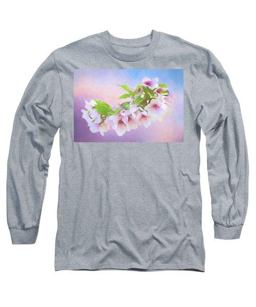 Charming Cherry Blossoms Long Sleeve T-Shirt