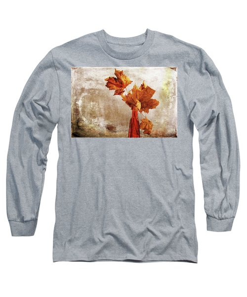Long Sleeve T-Shirt featuring the photograph Atumn In A Vase by Randi Grace Nilsberg