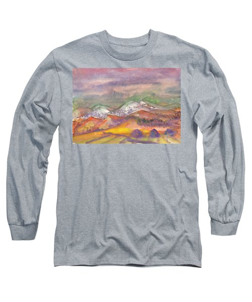 Autumn Landscape In Cloudy Weather Long Sleeve T-Shirt
