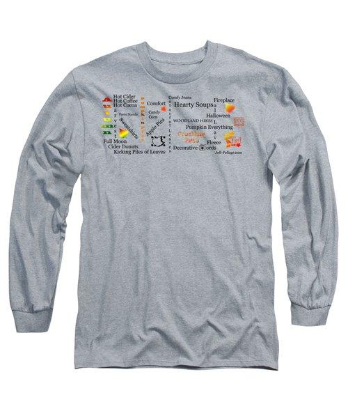Autumn Mug Design Long Sleeve T-Shirt