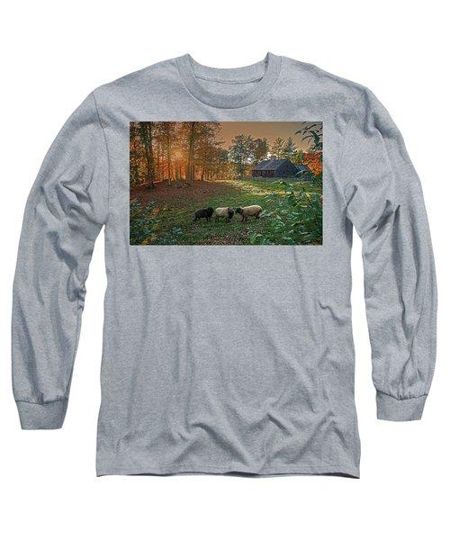 Autumn Sunset At The Old Farm Long Sleeve T-Shirt