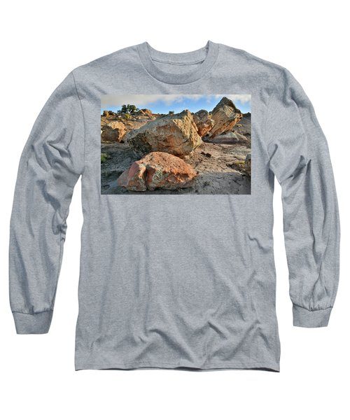 Balanced Rocks In Bentonite Site Long Sleeve T-Shirt