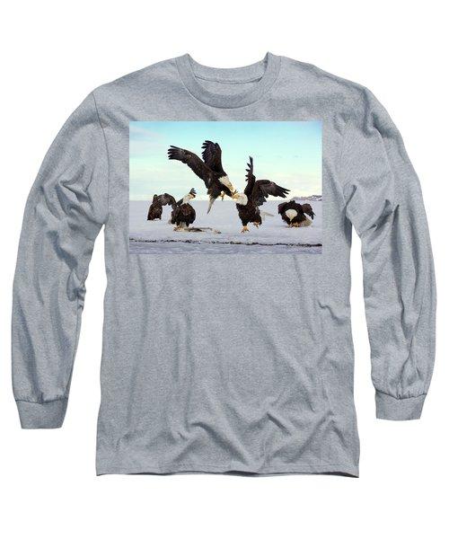 Bald Eagle Fight Long Sleeve T-Shirt