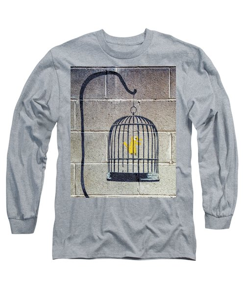Banksy Bird Cage Detroit Long Sleeve T-Shirt