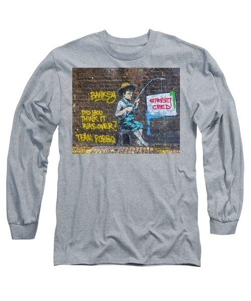 Banksy Boy Fishing Street Cred Long Sleeve T-Shirt
