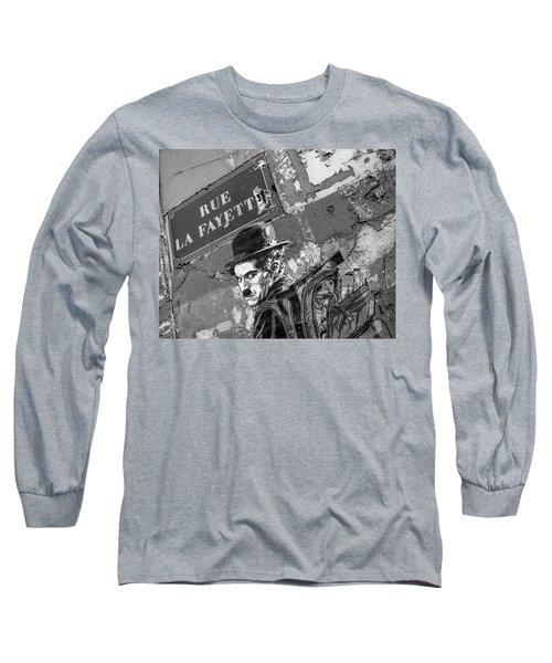 Banksy Rue La Lafayette Long Sleeve T-Shirt