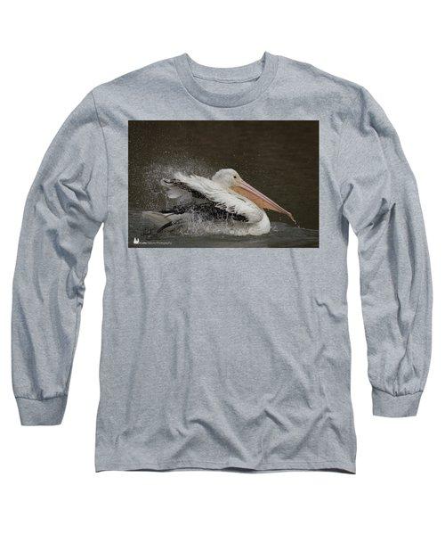 Bathing Pelican Long Sleeve T-Shirt