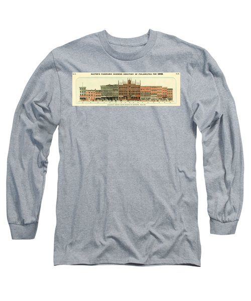 Baxter's Panoramic Business Directory Long Sleeve T-Shirt