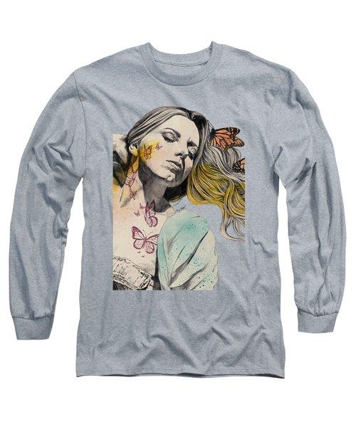Beautiful Ruin - Sexy Butterfly Girl In Lingerie Long Sleeve T-Shirt