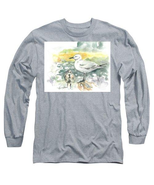 Black-billed Gull Family Long Sleeve T-Shirt