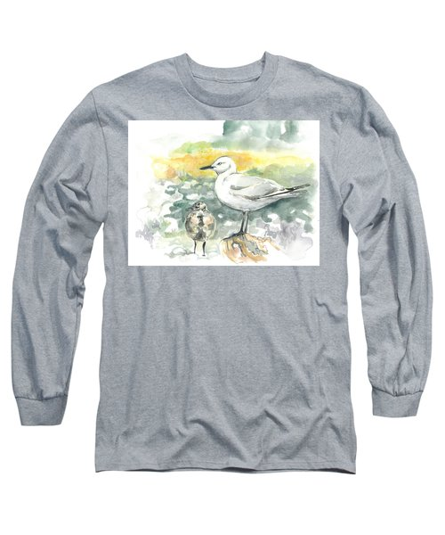 Black-billed Gull Family Long Sleeve T-Shirt