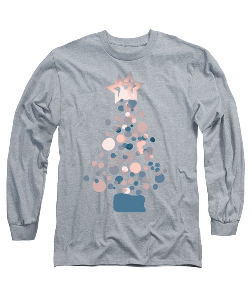 Blue Confetti Christmas Tree  Long Sleeve T-Shirt