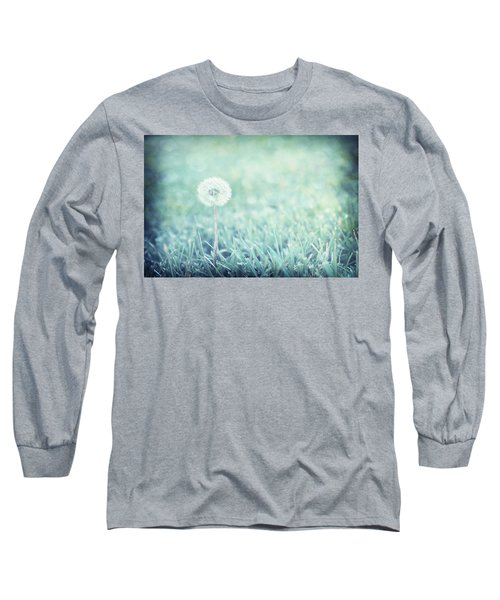Blue Dandelion Long Sleeve T-Shirt