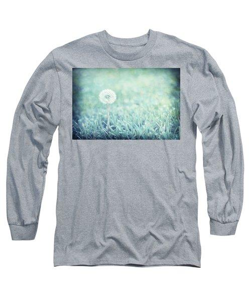 Blue Dandelion Long Sleeve T-Shirt