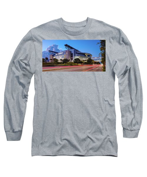 Blue Hour Photograph Of Nrg Stadium - Home Of The Houston Texans - Houston Texas Long Sleeve T-Shirt