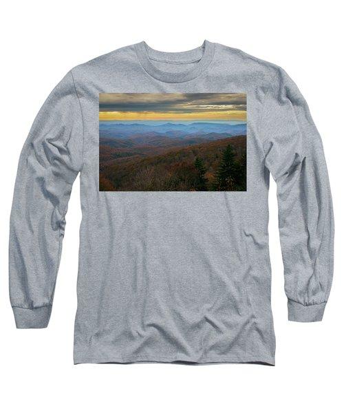 Blue Ridge Parkway - Blue Ridge Mountains - Autumn Long Sleeve T-Shirt