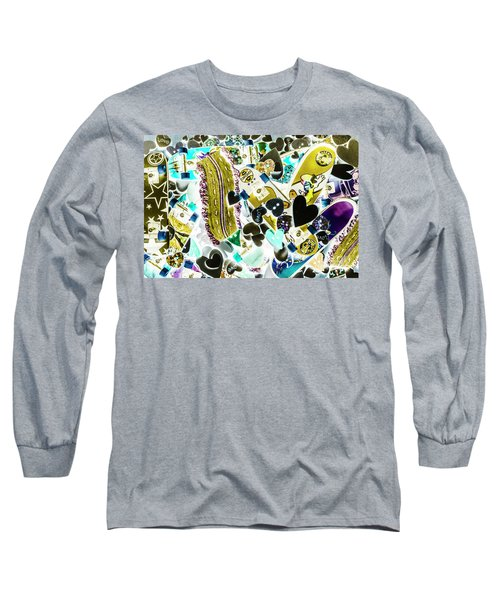 Boarding Background Long Sleeve T-Shirt