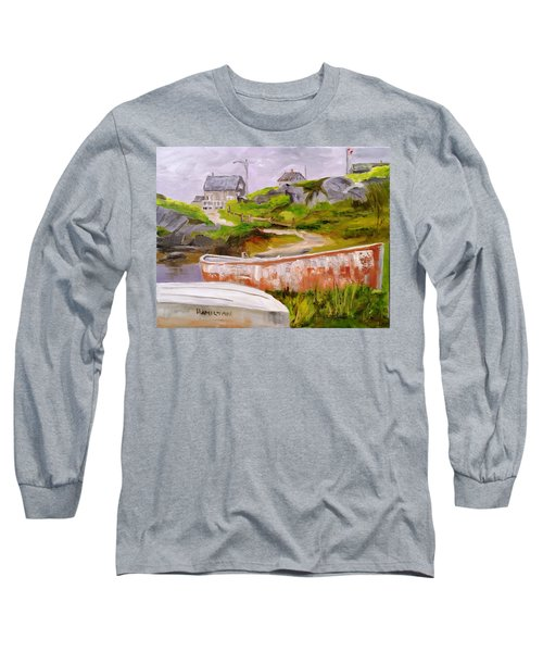 Boats At Peggy's Cove Long Sleeve T-Shirt