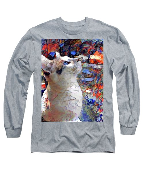 Brady The Half Siamese Half Tabby Cat Long Sleeve T-Shirt