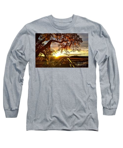Long Sleeve T-Shirt featuring the photograph Breaking Sunset by Robert Knight
