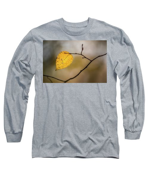 Long Sleeve T-Shirt featuring the photograph Bright Fall Leaf 10 by Michael Arend
