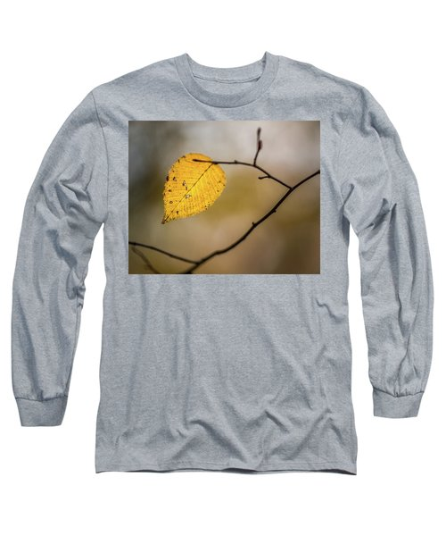 Long Sleeve T-Shirt featuring the photograph Bright Fall Leaf 9 by Michael Arend