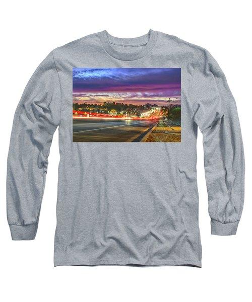 Broadway Sunset, Tucson, Az Long Sleeve T-Shirt