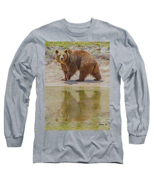 Brown Bear Reflection Long Sleeve T-Shirt