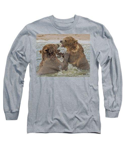 Brown Bears Fighting Long Sleeve T-Shirt