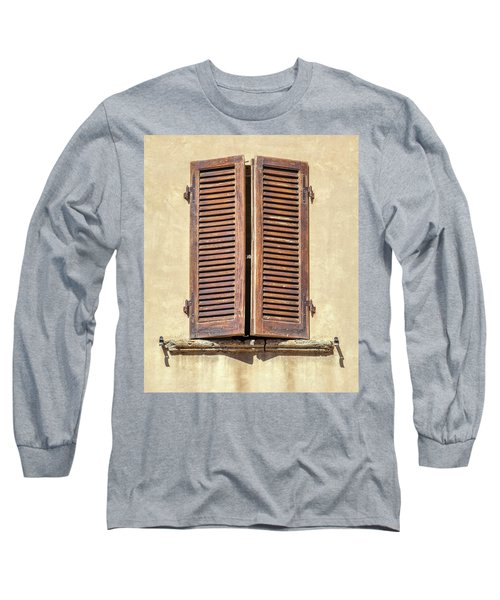 Brown Window Of Florence Long Sleeve T-Shirt