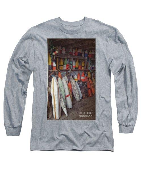 Buoys In A Sea Shack Long Sleeve T-Shirt
