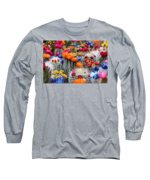 Cacti Flowers Long Sleeve T-Shirt