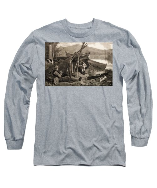 Camping Out In The Adriondack Mountains Long Sleeve T-Shirt
