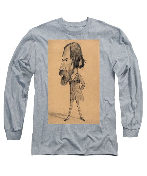Caricature Of Auguste Vacquerie Long Sleeve T-Shirt