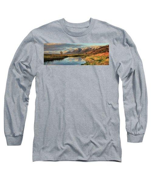 Carson Valley Sunrise Panorama Long Sleeve T-Shirt
