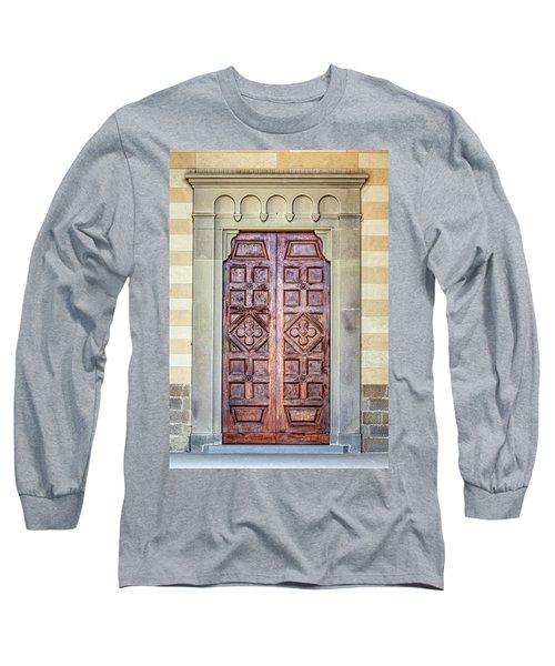 Carved Door Of Cortona Long Sleeve T-Shirt