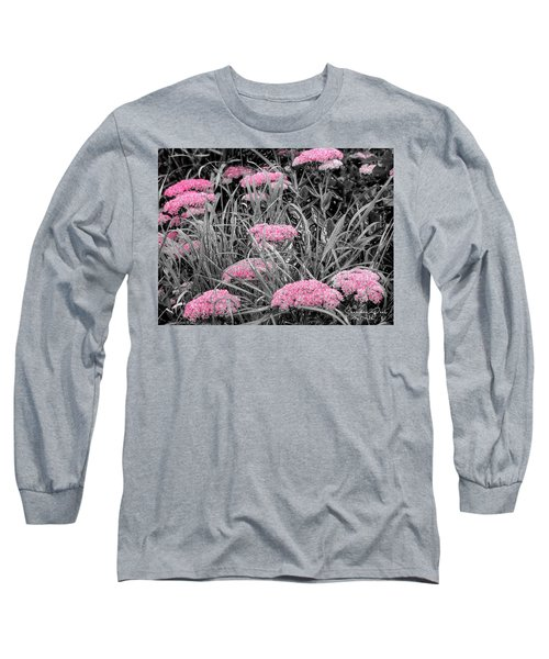 Carved Pink Butterfly Bush Long Sleeve T-Shirt