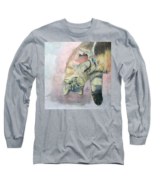 Playful Cat Named Simba Long Sleeve T-Shirt