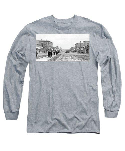 Centre Street  Assiniboia  Sasketchewan  Ca 1921 Long Sleeve T-Shirt