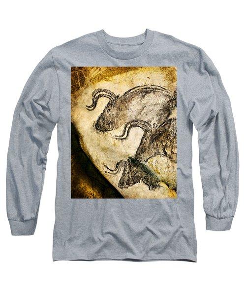 Chauvet - Three Aurochs Long Sleeve T-Shirt