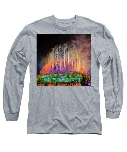 Cleveland Baseball Fireworks Awesome Long Sleeve T-Shirt