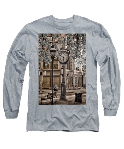 Clock On Street Long Sleeve T-Shirt