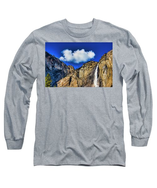 Clouds Abover Upper Yosemite Fall Long Sleeve T-Shirt